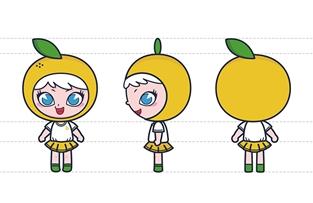 橘子艺术吉祥物设计